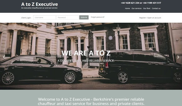 An executive chauffeured car and taxi service in Berkshire