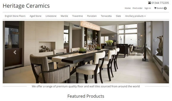 Buy stone or ceramics floor and wall tiles on-line
